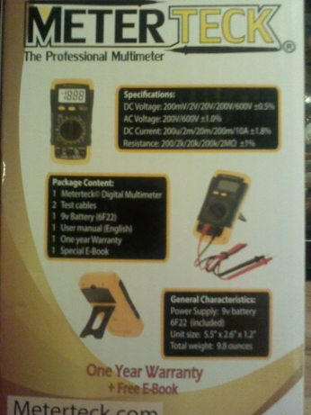 back of box- specifications